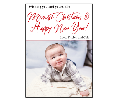 Wishing you Merriest Christmas Holiday Card